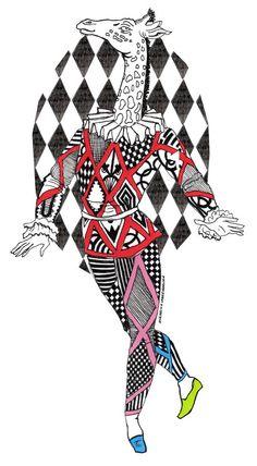 Arlequin Giraffe Illustration Edinburgh Fringe Festival, Art Drawings, Cards, Inspiration, Illustrations, Mood, Biblical Inspiration, Illustration, Maps