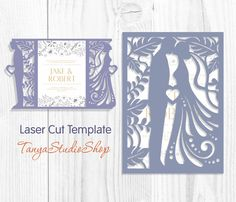 Wedding invitation - SVG, DXF, ai, CRD, eps, studio3 - Dride and Groom - Laser Paper Cut - Silhouette Cameo - Instant Download 033 by TanyaStudioShop on Etsy https://www.etsy.com/listing/507062380/wedding-invitation-svg-dxf-ai-crd-eps