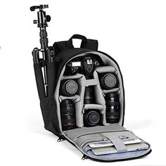 Free,Camera Backpack,Camera Bag Waterproof Camera Case with Rain Cover