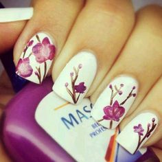 Spring nail art | See more nail designs at http://www.nailsss.com/acrylic-nails-ideas/2/