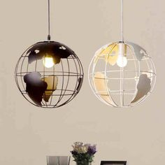 globe earth iron pendant light - Diy Hanging Lamp