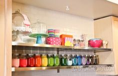Baking supply storage and display!  I want this in my someday permanent home