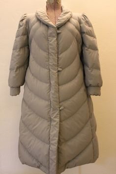 vintage j gallery down puffer jacket/ grey and by brolliarfound