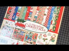 Card Making with 12x12 paper pack A Very Merry Christmas part 1 - Maymay - YouTube