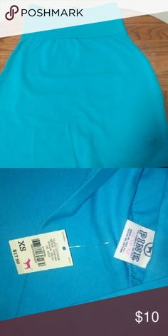 Pink mini skirt color blue new with tags Pink mini skirt new with tags PINK Victoria's Secret Skirts Mini