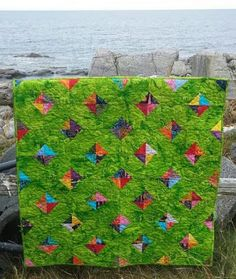 Den syende himmel: Secondary pattern with Island Batik Small Quilts, Mini Quilts, Challenges, Kids Rugs, Island, Den, Outdoor Decor, Pattern, Home Decor