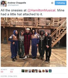 This reminds me about when at my theatre we do pajama day and we all wear onesies