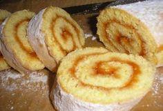Ízes piskótarolád Sweet Cookies, Cake Cookies, Sweet Treats, Hungarian Desserts, Hungarian Recipes, Hungarian Food, Baking And Pastry, Cookie Recipes, Tart