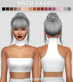 Anto's Kerli hair conversion at Hallow Sims via Sims 4 Updates