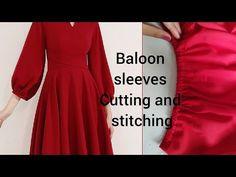 Baloon #sleeves cutting &stitch ||बलून आस्तीन बनाने का आसान तरीका elastic sleeves #shahanafashionhub - YouTube Full Sleeves Design, Kurti Sleeves Design, Sleeves Designs For Dresses, Saree Blouse Neck Designs, Blouse Designs, Tandoori Masala, Cloth Flowers, Balloon Sleeves, Cuttings