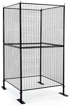 Art Display Grid, Square-Shaped, 4-Sided, (8) 3' x 3' Panels, Iron Mesh - Black Grid Panel, Metal Grid, Shape Crafts, Graphic Design Services, Shape Design, White Art, Pop Up Stores, Yard Art, Service Design