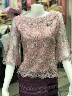 Kebaya Lace, Kebaya Hijab, Kebaya Brokat, Dress Brokat, Kebaya Dress, Dress Muslim Modern, Kebaya Modern Dress, Blouse Batik, Batik Dress