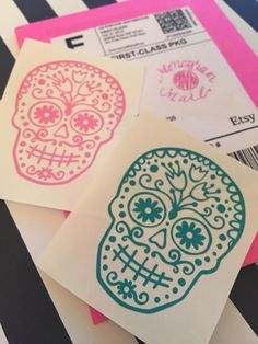 Sugar Skull Vinyl Decal - Car Decal - Sugar Skull by aNnMonograms on Etsy https://www.etsy.com/listing/253435293/sugar-skull-vinyl-decal-car-decal-sugar