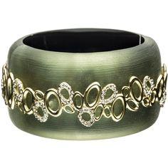 Alexis Bittar Modulor Gold Large Eternity Eyelet Bracelet ($325) ❤ liked on Polyvore