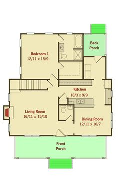 Three Bedroom Country House Plan - 50127PH   Architectural Designs - House Plans