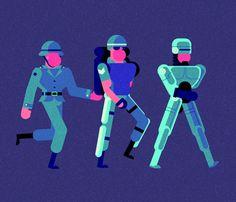 Divertidos gifs animados por Robin Davey | OLDSKULL.NET