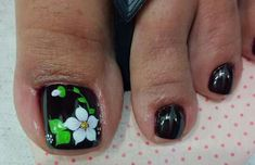 Resultado de imagen para deko uñas para pies Cute Toe Nails, Cute Toes, Toe Nail Art, Cute Pedicures, Toe Nail Designs, Manicure And Pedicure, Simple Designs, Finger, Lily