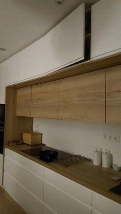 59 veces he visto estas bellas cocinas modernas. Kitchen Room Design, Home Room Design, Kitchen Cabinet Design, Modern Kitchen Design, Home Decor Kitchen, Interior Design Kitchen, Kitchen Furniture, Home Kitchens, Interior Modern