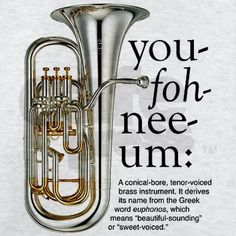 You-foh-nee-um Square Car Magnet x by Band Geeks Unlimited - CafePress Band Puns, Band Jokes, Band Mom, Band Nerd, Music Memes, Music Humor, Marching Band Memes, Band Pictures, Brass Band