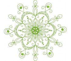 MANDALA 1 - zelená