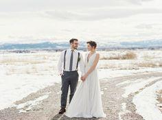 rustic modern barn wedding photoshoot