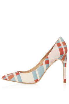 GLORY Check Print Court Shoes