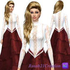Les contes d helena: Aurore dress • Sims 4 Downloads