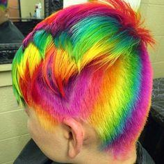 short+undercut+hairstyle+and+rainbow+hair
