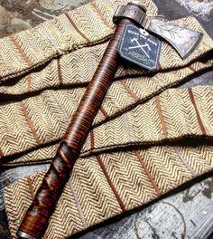 Heart And Hawk Camping Axe, Throwing Axe, Tomahawk Axe, Longhunter, Axe Head, Traditional Archery, Mens Gear, Mountain Man, Celtic Designs