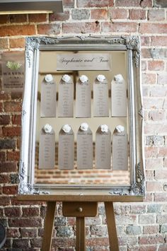 Chic mirrored table plan at Wasing Park wedding venue in Berkshire Seating Plan Wedding, Wedding Table, Seating Plans, Mirror Table Plan, Wasing Park, White Stool, Park Weddings, Seating Charts, Table Plans