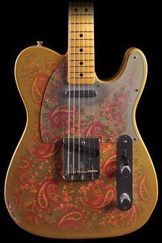fender custom shop - masterbuilt 1969 telecaster. relic gold burst paisley.