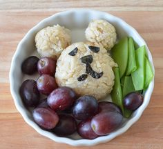 Brown rice bears!  They're filled with meat and veg, also!  Great for kids' lunches (warm or cold).