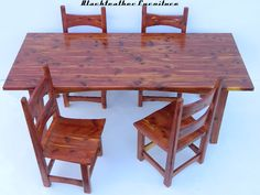 Cedar Furniture  Slab Tables, Benches