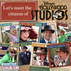 Meeting some of the chracters at Disney's Hollwyood Studios - also knows as Streetmosphere or the Citizens of Hollywood
