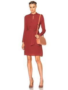A.P.C. Meredith Dress in Vieux Rose | FWRD