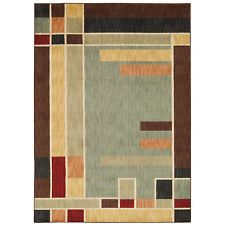 "8x11 (7'9"" x 10'10"") Contemporary Mission Style Arts & Crafts Geometric Area Rug"