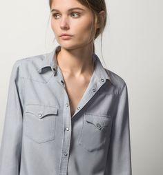 DENIM SHIRT - Best Sellers - Shirts & Blouses - WOMEN - United States - Massimo Dutti