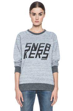 Golden Goose|Sneaker Cotton Sweatshirt in Grey [1] www.FORWARDbyelysewalker.com $340