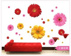 Flower Vinyl 3D Wall Stickers #decoration #home_decor_ideas #decorating_ideas #interior_decoration #stylish_things #wall_stickers