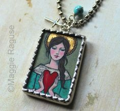 Angel Heart Soldered Pendant Necklace from original by MagRag, $28.00