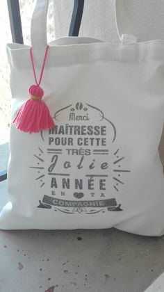 Cadeau maîtresse ,maître tote bag personnalisable