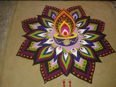 Wooow what a beautiful Rangoli!