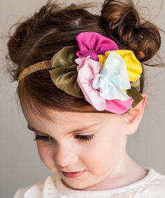 Look what I found on #zulily! Pink & Gold Sparkle Headband #zulilyfinds