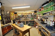 My NEW Reloading Room Small Caliber Discussion Board Reloading Table, Reloading Room, Reloading Equipment, Reloading Data, Weapon Storage, Gun Storage, Garage Storage, Food Storage, Storage Ideas