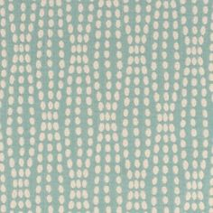Turquoise Polka Dotted Cotton-Poly Woven