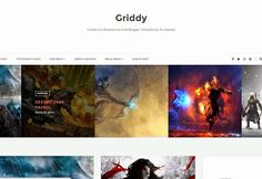 Griddy Blogger Template | Blogger Templates Gallery