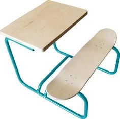 Leçons de choses Skateboard desk Peacock blue `One size Details : Metal Structure, Maple Wood, Handcrafted, Maple Wood plank made in Canada Fabrics : Maple wood Height : 58 cm, Seat Height : 34 cm, Depth : 70 cm, Width of seat: 82 cm. Age : Up to 8 years M http://www.comparestoreprices.co.uk/january-2017-7/leã§ons-de-choses-skateboard-desk-peacock-blue-one-size.asp
