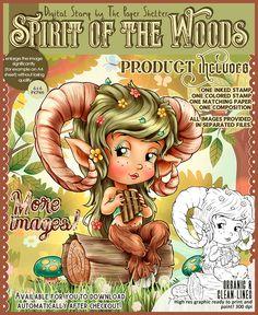 Spirit Of The Woods - Digital Stamp