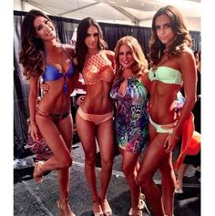 Million Dollar Tan on the gorgeous models and designer of Luli Fama Swimwear at Mercedes Benz Fashion Week Swim 2014 in Miami!!    #MBFWSwim #bikini #tanning #sunlesstan #fitness #fashionshow #miami
