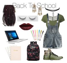 """""""Back To School"""" by africanhipsterqueen on Polyvore featuring LE3NO, Converse, Vans, ban.do, Microsoft, Boohoo, LASplash, BackToSchool, FirstDay and slay"""